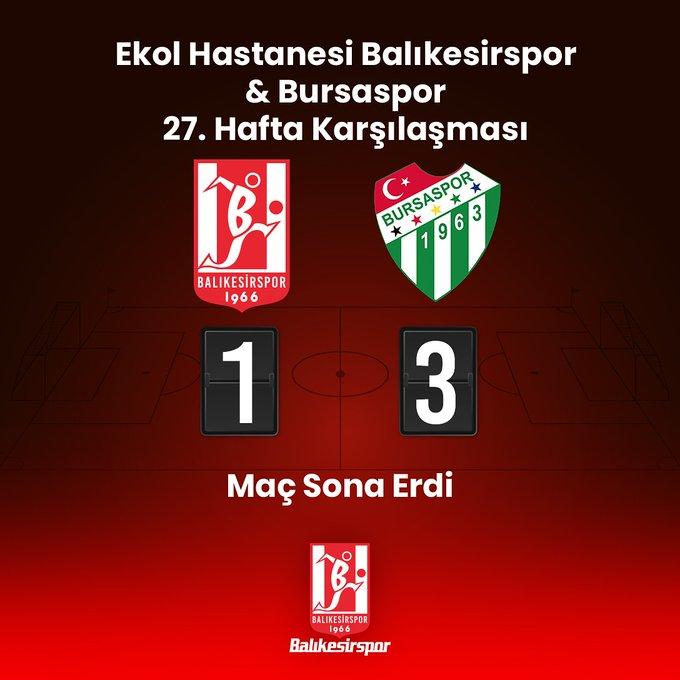 Balıkesirspor Bursaspor'a kaybetti